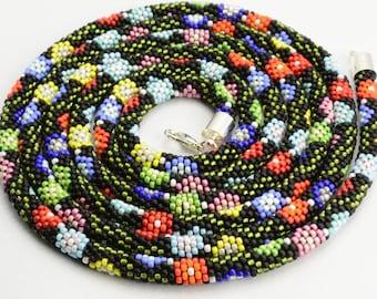 Necklace, Beadwork, Lariat
