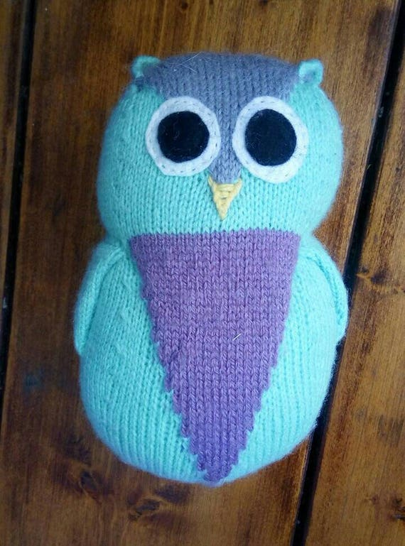 Wilbur Large Owl Knitting Pattern