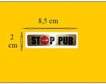 "Plate of the mailbox ""stop pub"""