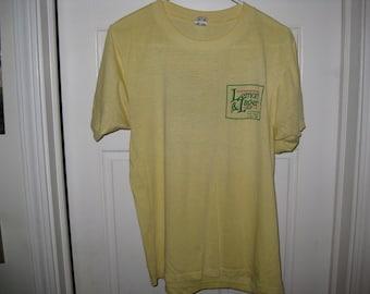 vintage lemon & Lager beer t-shirt