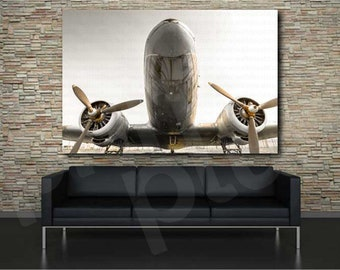 Aircraft Plane With Propellers Army Air Force Art Canvas Poster Print Home Decor