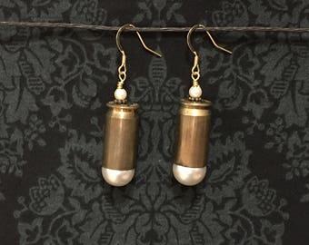 45 Caliber Glass Pearl Earrings