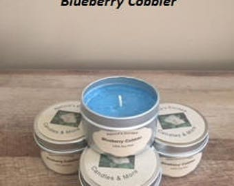 Blueberry Cobbler Soy Wax 6 oz. Candle Tins