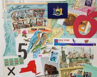 New York US State Vintage Ephemera Collection | 25+ pcs | Mixed Media | Junk Journal | Scrap Pack | Inspiration Kit | Paper