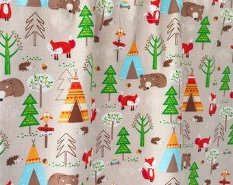 Woodland Nursery Curtains, Wildlife Curtains, Childrens Curtains, Made To  Measure Curtains, Black