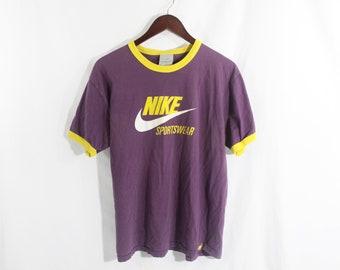 Vintage Nike Ringer T Shirt 50/50 Cotton Poly blend