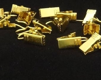 24 Qty Gold Drapery Clips For All Drapery Rings