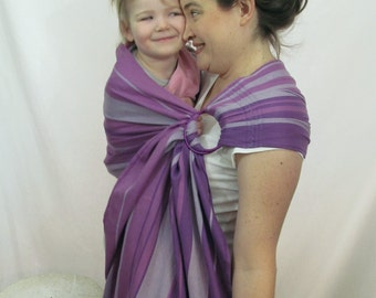 Little Frog Amethyst Wrap Conversion Ring Sling - WCRS - Twill Weave Pleated Shoulder - DVD included