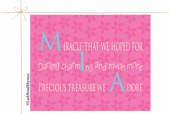 Personalized baby shower gift baby room wall art baby girl negle Image collections