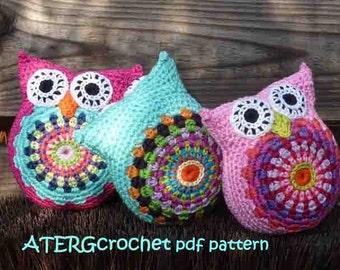 Crochet pattern CUDDLY OWL by ATERGcrochet