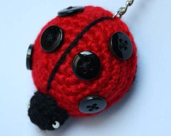 Crochet Ladybug Keyring
