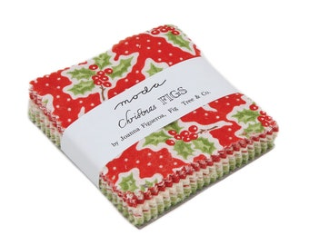 In Stock New Fig Tree Fabric - Christmas Figs Mini Charm Pack - Only 20 Remaining Until June