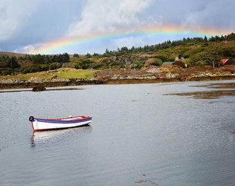 Ireland, Irish, Celtic, County Cork, Coastline, Wild Atlantic Way, Fishing, Coastal Living, Gaelic, Boat, Rainbow, Shamrock, Pot of Gold