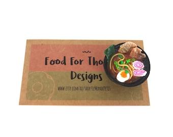 Tiny Ramen Soup Noodles (adjustable ring or magnet)
