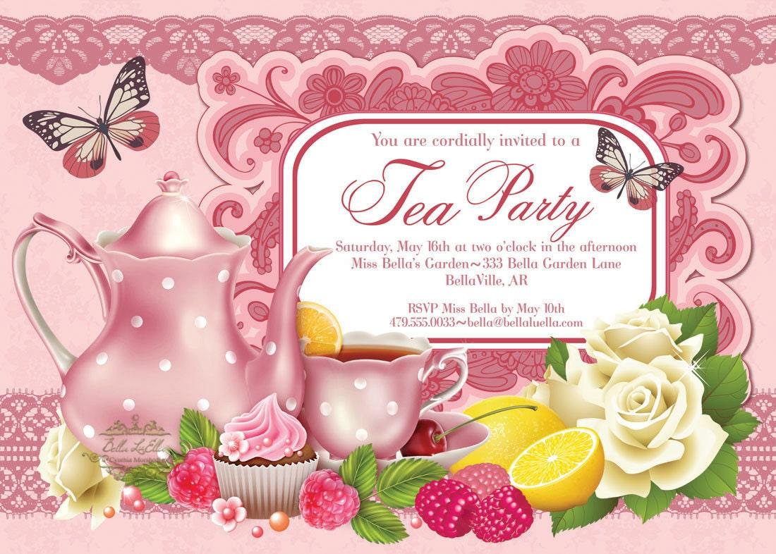 Tea Party Invitation Bridal Tea Party Garden Tea Party