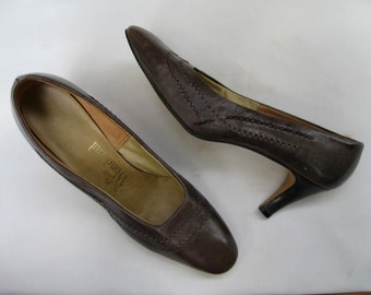 Vintage 50s gray pumps, Miss Wonderful pumps, stiletto pumps