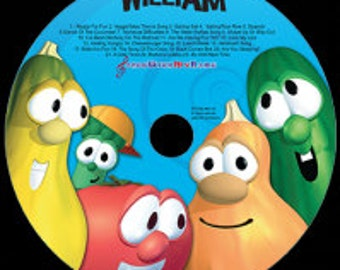 Personalized Music, Veggie Tales, Silly Songs Personalized Music Cd, Veggie Tales Songs, With A Digital Download Option
