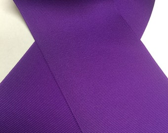 3 inch Purple Grosgrain - Big Ribbon for Cheer Bow Making - Select as Many Yards as You Need! * New color - Offray