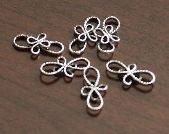 10 pcs of antique silver links Bowknot shape 13x7mm