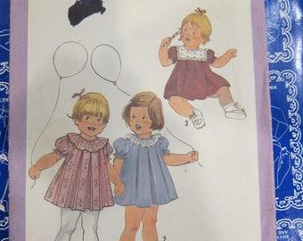 Toddler sewing pattern, Simplicity 8814, 1960s Toddler sewing pattern