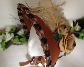 Brown Victorian Bonnet
