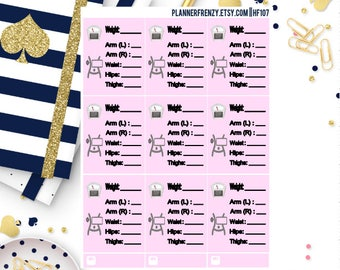 Weight and Measurement Planner Stickers! HF107