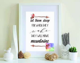 Let Them Sleep A4 Print