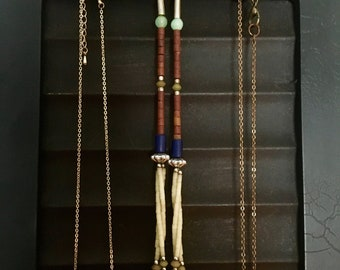 Frame Jewelry Display Necklaces Magnetic Surface Frame Holds Necklaces Up Cycled Black Frame Jewelry Storage Goth Style