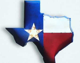 TEXAS State Flag Marquee Light