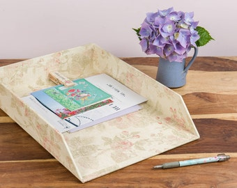 Paperwork In Tray - Antique Pink