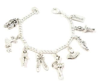 Girls Ballet Bracelet Dance Recital Gift Bracelet for Girls  Ballet Dancer Bracelet Love to Dance Ballet Slippers Ballerina Bracelet G40