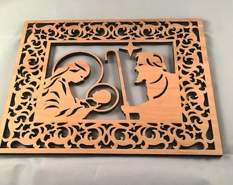 Christmas miracle, wooden, holiday picture frame and plaque