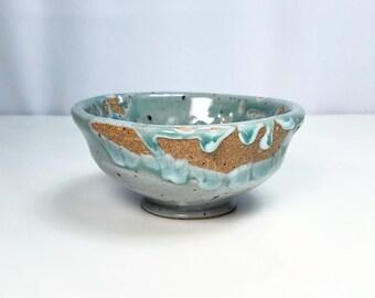 Ceramic Bowl, Celadon Pottery, Blue Ceramic Bowl, Cereal Bowl, Wheel Thrown Bowl, Stoneware Bowl, Gift for Her