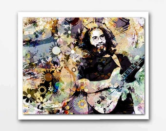 Jerry Garcia, Grateful Dead, Jerry Garcia Art, Grateful Dead Prints, Hippie Band, Hippies, Grateful Dead Poster, Jerry Garcia Print Posters
