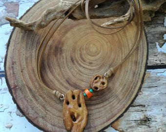 Bohemian wood necklace, Natural Branch necklace, Unique wooden pendant, Wooden pendant necklace,  Tree branch necklace,Unique women necklace
