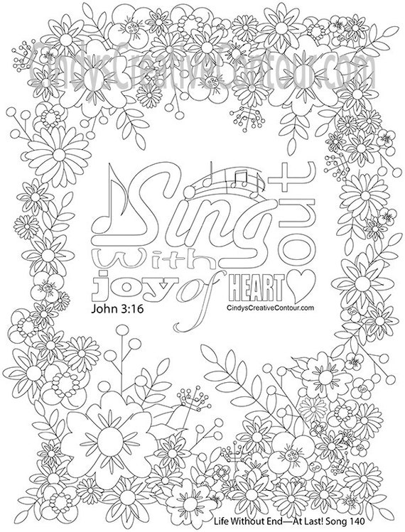 sing out with joy of heart coloring page Pioneer Books