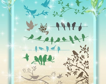 Bird Silhouettes, Birds SVG, SVG,  Birds Dxf, Birds, Bird Collection, Bird Bundle, Birds, Collection of Birds, Birds Bundle