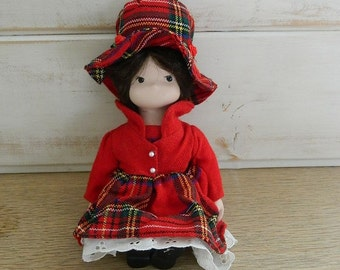 Small Sitting Doll - Porcelain and Cloth