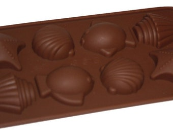 Taavi Sea Shell Silicone Mold (Candy, Chocolate, Ice Cubes, Finger Jello, Butter) (T808)