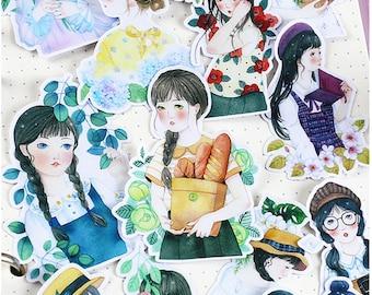 15pcs Scrapbook Sticker --Filofax Stickers--Planner Stickers--Teenager Girl