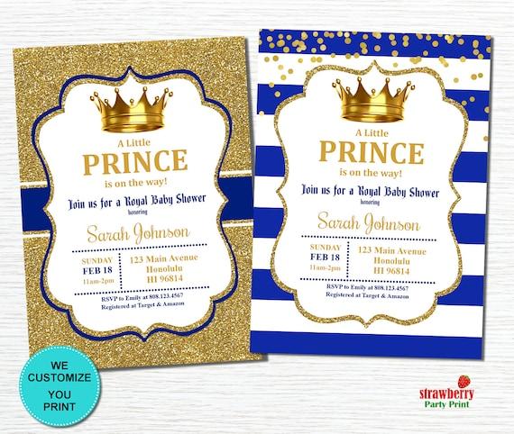 Prince Baby Shower Invitation Royal Baby Shower Invitation