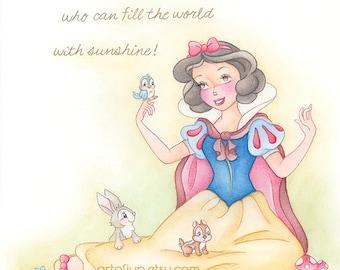 Disney Snow White, print, princess