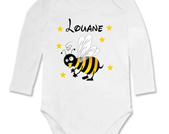 Bodysuit bee personalized with name
