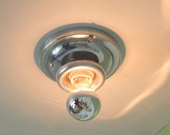 Vintage Flush Mount Aluminum Ceiling Light