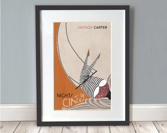 Nights At The Circus Print / Circus Poster / Circus Art / Wall Art / Retro Circus / Book Lover Gifts / Literary Gifts / Poster /A3 Print