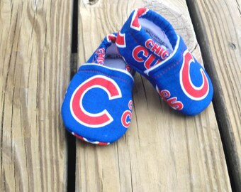 Baby shoes / Chicago Cubs Baseball Shoes / Baby Crib Shoes
