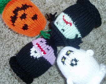 Halloween Egglets (Set of 4 - 1 Pumpkin, 1 Witch, 1 Ghost, and 1 Vampire)  Want a different grouping - just contact us.