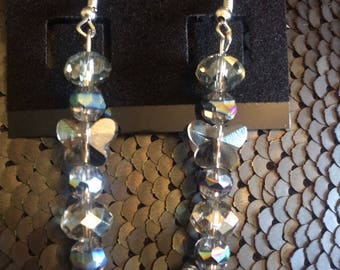 Glass Butterfly Earrings - long