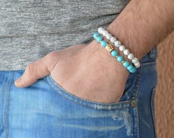 chakra bracelet, yoga bracelets, turquoise bracelet, bracelet for men, lucky bracelet, Bracelets For Men, buddha Bracelets, buddha bracelet