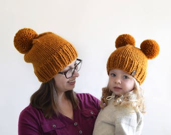 Mommy and Me Hats // Mini and Me Hats // Hats for Kids // Toddler Hats for Girls // Toddler Hats for Boys